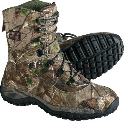 Hunting Engineered for archers and gun hunters who like to cover ground, these boots are lighter than some athletic shoes. And because stalking requires many hours on your feet, the boots removable full-cushion insoles atop camouflage-wrapped, compression-molded EVA midsoles support every inch of your feet. Imported. Height: 8. Average weight: 2.4 lbs/pair. Mens sizes: 8-13 medium and wide widths. Half sizes to 12. Camo pattern: Realtree AP. Type: Uninsulated Hunting Boots. Size: 9 1/2. Shoe Width: 2E. Color: Realtree Ap Hd. Size 9 1/2. Width X-Wide. Color Realtree Ap Hd. - $109.88
