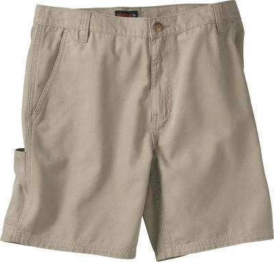 Microsanded and enzyme washed, these durable 7.8 oz. cotton canvas shorts offer a comfortable broken-in feeling. Two front slash pockets and two back patch pockets. Cell phone pocket with hook-and-loop closure on right leg. Belt loops. Imported. Inseam:8. Even waist sizes: 32-44. Colors: Bison, Khaki. Size: 34. Color: Bison. Gender: Male. Age Group: Adult. Material: Cotton. Type: Shorts. - $9.88