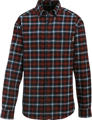 Do your yardwork in a classic, good-looking shirt thats packed with chill-beating warmth. 100% cotton flannel is brushed on both sides for extra softness. The button-down collar, button-close chest pocket and shirttail hem ensure a neat appearance. Adjustable cuffs and rolled shoulders. Imported. Sizes: M-2XL.Colors: Olive, Bison, Red, Lead. - $19.88