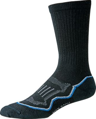 Camp and Hike Lasting comfort, natural odor resistance and itch-free performance for hiking and hunting. Crafted of 67% merino wool, 30% stretch nylon, 3% Lycra spandex, these performance socks wick moisture away from the skin to keep feet dry and cool in summer and dry and warm in winter. They boast one of the flattest toe seams available on the market, which means they wont rub or irritate. Strategically placed fabrics provide support in the ankles and arches where you need it most. Cushioned heels deliver shock-absorbing comfort. Double-welt tops for stay-up comfort. Made in USA.Womens size: M(6-8). Colors: Black, Lavender, Nile Blue, Stone. - $7.88