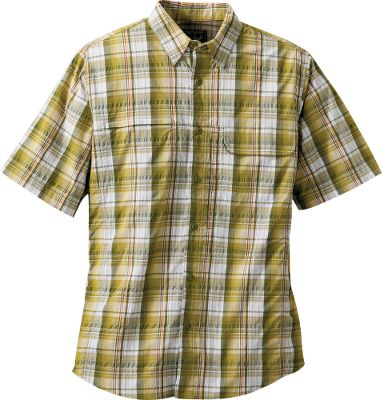 A lightweight nylon/polyester blend gives this classic button-up a cool feel thats just right for warm-weather fun. This innovative fabric has a UPFrating of 50 for maximum protection from the sun. Add to that a superior moisture-wicking ability and a wrinkle-resistant finish and you have a shirt thats ideal for summertime travel and adventure. Imported. Sizes: M-2XL.Colors: Deep Ruby, Slate, Kelp, Deep Indigo. - $44.88