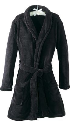 Wrap yourself in the luxurious softness of furry fleece and it will whisk you to new levels of relaxation. This cozy robe features a soothing shawl collar, patch pockets and a matching belt. 100% polyester. Imported. Sizes: S-2XL. Colors: Black, Ruby. Type: Robes. Size: X-Large. Size Xl. Color Black. - $19.88