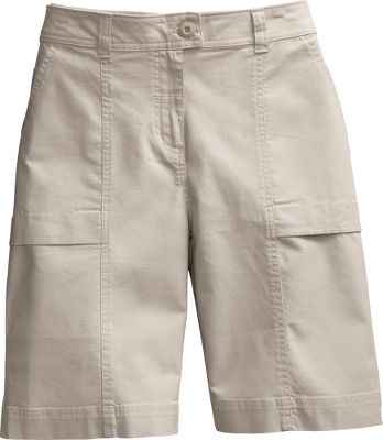 "These lightweight summer shorts are made of 98/2 cotton/spandex Stretch Island Cloth for easy-fitting comfort and freedom of movement. Boulder-washed for a broken-in look and feel. Two slash pockets. Coin pocket at right waist. Imported.Inseam: 10"". Even sizes: 4-18.Color: Stone. - $19.88"