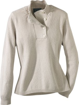 Lightweight, 100% cotton sweater provides essential warmth on chilly mornings and cool fall days. Gathered neckline seam and 2 x 2 rib-knit side seams. Imported.Center back length: 24.Sizes: S-2XL.Colors: Agate, Bluebell, Soft Ruby, Stone. - $29.88