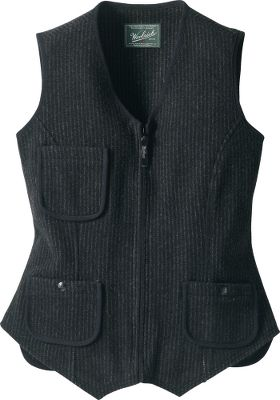 The classic woolen sweater vest is always an easy match and a complementary layer with most cool-weather clothes. Contoured seaming and an adjustable back belt. Pre-washed for softness. Made of 11-oz. 80/20 wool/nylon wool. Imported. Sizes: S-2XL. Color: Black. - $34.88