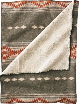 Hunting Accent your home or cabin with outdoor-inspired Jacquard-woven patterns. This 21-oz. 84/16 wool/nylon throw delivers undeniable warmth. The welcoming polyester pile backing is super-soft for wraparound comfort. Whipstitch trim. Made in USA.Dimensions: 68L x 50W.Colors: Aztec Stripe, Moose/Buffalo Plaid, Navajo Deer, Outdoor Collage. - $149.99