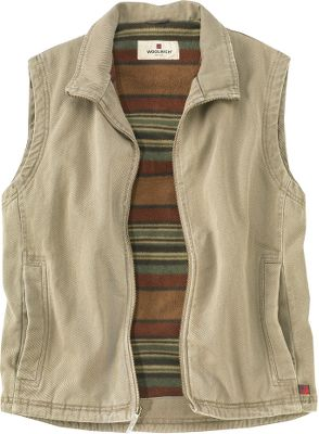 Midweight cotton twill is lined with 8.5-oz. Trailhead microfleece for a sturdy and warm classic vest. Durable YKK front zipper. Handwarmer pockets. 100% polyester liner. Machine washable. Imported.Sizes: S-2XL.Color: Dark Wheat. - $99.00