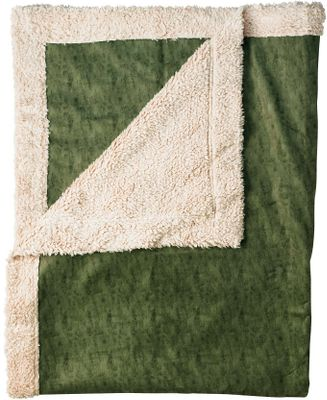 Rich in texture and wonderfully soft to the touch, this classic suede and Sherpa fleece blanket is a comfort for any home or lifestyle. 68L x 50W. 100% faux-suede bonded to 100% polyester, 2-long curly Sherpa pile. Imported. Available: Olive, Saddle. Color: Olive. Type: Thows. - $119.99