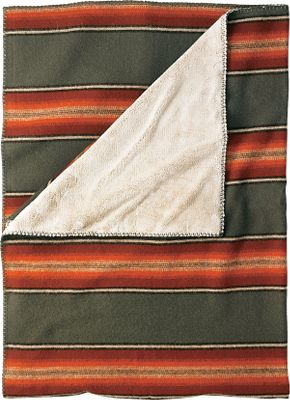 Add the rustic ambience of woven multicolor stripes to your home or cabin. This 18-oz. 85/15 wool/nylon throw delivers exceptional warmth. The welcoming polyester pile backing is super-soft for wraparound comfort. Whipstitch trim. Made in USA.Dimensions: 68L x 50W.Colors: Olive, Blue, Hunter, Red/Black. - $139.99