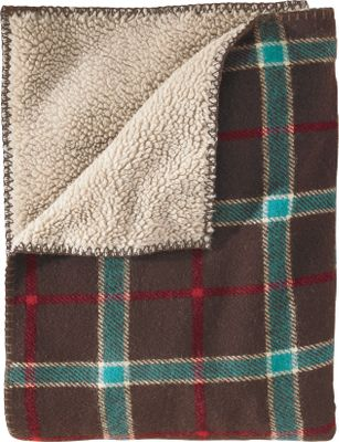 Add the rustic ambience and warmth of classic wool plaid to your home or cabin. This whipstitch-trimmed 19-oz. woven plaid throw with super-soft Sherpa fleece pile lining is perfect for wrapping yourself in on chilly days. Crafted of 85/15 wool/nylon and backed with 80/20 polyester/acrylic Sherpa fleece pile. Made in USA.Dimensions: 68L x 50W.Colors: Blackwatch, Dark Chocolate, Dark Brown, Olive. - $129.99