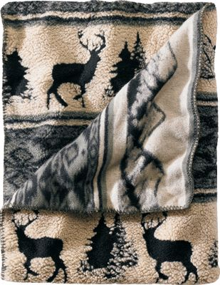 Entertainment Express your love of the outdoors with a throw depicting nature scenes. The silky-soft Berber fleece is crafted of 66% polyester, 26% acrylic and 8% modacrylic for comfort youll want to stay wrapped in all day. Imported.Dimensions: 68L x 50W. - $99.99