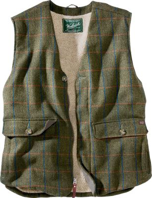 Ski Pre-washed wool in this heritage-style vest is the key to its softness and comfort. The wool shells stitching and classic color give it a vintage look, and an inside security pocket holds your cell phone or media device. 80/20 wool/nylon-twill-weave washable wool. Liner is 86/14 polyester/acrylic Sherpa pile. Imported.Sizes: S-2XL.Color: Olive Plaid. - $99.00