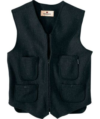Hunting Once worn, youll wonder how you did without this convenient extra layer. Crafted of 14.75-oz. 80/20 wool/nylon, this vest boasts perfect warmth. Four front pockets two with snap closures carry essential gear. Adjustable belt at back delivers a custom fit. Zippered front closure keeps chills out. Machine washable. Imported. Center back length: 25-1/4.Sizes: S-2XL. Colors: Charcoal, Grey (not shown), Herringbone (not shown), Red Black. - $79.00