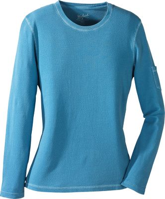 The 4.75-oz. 100% cotton crepe knit is garment-dyed for a super-soft, broken-in feel. Cover-stitched seams allow the fabric to stretch while promoting long-wearing durability. Left sleeve pocket for small essentials. S;ode hem vents for breathability. Imported. Center back length:25.Sizes: S-2XL. Colors: Bluebell, Bridle, Spruce, Ultra Violet. - $19.88