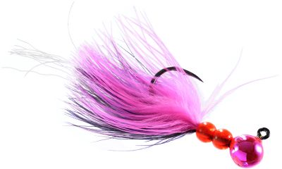 Fishing The Yakima Maxi Jig is a pulsating maribou/Flashabou steelhead jig with an Owner 2X pre-sharpened hook. Lil Corky colored head and durable, urethane UV finishes add fish-tempting appeal. Cleaned eyelet makes tying easy. Per each. Sizes: 1/32 oz., 1/16 oz.,1/8 oz., 1/4 oz. Colors: (100)Cerise, (101)Luminous Pink, (102)Metallic Lavender, (103)Blue Glow Black Tiger, (104)Metallic Orange, (105)Nickel Plate, (171)Pearl, (200)Nightmare, (201)Pearl Nightmare, (202)Pearlescent Pink, (203)Egg Fluorescent, (204)Pink Fluorescent, (207) Double Trouble, (214) Luminous Pink, (215) Metallic Chartreuse, (465)Calypso, (469)Glitter Rocket Red, (473)Pink Purple. Color: Chartreuse. Type: Marabou Jigs. - $3.29