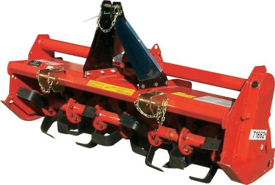 "Motorsports Turn hard ground into a perfect bedseed quickly. Each model is rugged and built to last. Features curved blades, oil-bathed oversized chain drive, depth adjustment on skids and adjustable lower hitch points. A rear deflector keeps soil and debris beneath the tiller for total pulverization. Gearbox is protected by either a shear-bolt or slip clutch PTO driveline. Imported. Available:T25-50: 50"" tiller 25 horsepower minimumT40-58: 58"" tiller 40 horsepower minimumT40-66: 66"" tiller 40 horsepower minimum - $1,919.99"