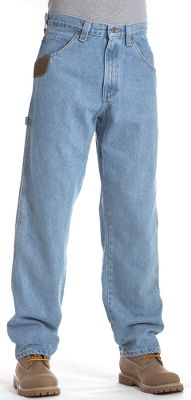 Entertainment In your line of work its not uncommon to wear out a pair of pants in a year or even a few months, which is why you need these RIGGS WORKWEAR by Wrangler Mens Relaxed-Fit Work Horse Jeans. Theyre constructed of 14.5-oz. durashield denim, so theyll definitely be around for a few years. Youll be equipped to do more with a room2move fit that gives you added space in the seat, thigh area, knees and bottom leg openings. An Action gusset gives you additional ease of movement. 13-inch deep front pockets for lots of storage space. Tape measure reinforcement on right front pocket. Right side hammer loop. 1000-denier Cordura-lined back pockets. Back pockets reinforced at stress areas. Imported. Even inseams: 30-36. Waist sizes: 29-36, 38-60 (even). Colors: Antique Indigo, Vintage Indigo. Size: 34. Color: Vintage Indigo. Gender: Male. Age Group: Adult. Material: Denim. Type: Jeans. - $36.99