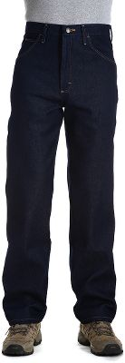 The poly/cotton blend in this stretch denim makes Wrangler Rugged Wear Mens Stretch Five-Pocket Jeans perfect for active guys who are constantly on the go. The U-Fit crotch adds extra room for freedom of movement. Straight-leg cut fits easily over work or western boots. Easy entry, extra-deep front pockets. Leather waistband patch. Imported. Inseams: 29, 30, 32, 34. Waist sizes: 32-34, 36-60 even. Color: Light Blue. Size: 34. Color: Denim. Gender: Male. Age Group: Adult. Material: Leather. Type: Jeans. - $33.99