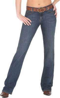 "Hunting Wrangler gave it's Women's Ultimate Riding Jeans a Cowgirl Cut, so you can throw a leg over your ride whether it's a quarter horse or an ATV and still feel comfortable. The women at Wrangler had some input on the freedom-feeling fit of these jeans, which is why they were designed for the go-anywhere, do-anything spirit of the West. Comfort and beauty merge together in the Q-Baby Jeans that have stretch denim and flat seams. A no-gap waistband keeps your shirt tucked in. They have a slimming, stylish cut. Made of 86% cotton/1% spandex 11.5 ounce Imported.Inseam: 32"", 34"", 36"", 38"".Odd sizes: 0, 1-19 odd sizes. Colors: Dark Dynasty, Tough Buck. - $58.00"