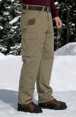 Mobility is a necessity at the work site, and the Ranger Pants room2move fit features improved fit in the seat, thighs, knees and bottom openings along with a gusseted crotch to ensure your motion isnt hindered by bunching or binding. Made of rugged 10-oz. 100% cotton ripstop fabric and equipped with a soft 100% cotton flannel lining, these are the pants to have during cold days on the job. Deep front pockets, leather-reinforced right pocket and Cordura-nylon-lined back pockets. Right-side hammer loop. Reinforced knees with bottom vents. Large side cargo pockets with flaps and concealed snaps. Imported. Inseams: 30, 32, 34. Even waist sizes: 30-48. Color: Bark, Black, Loden. Size: 44. Color: Bark. Gender: Male. Age Group: Adult. Material: Flannel. - $59.99