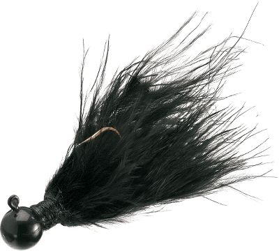Fishing The breathing, living, pulsating, action of marabou underwater has always made this type of jig popular for walleye, bass, crappie, and most freshwater fishing. These jigs feature double-coated and chip-resistant epoxy heads. Each is hand-tied on Eagle Claw hooks. Per 4.Sizes: 1/16 oz. 1/8 oz. 1/4 oz. 3/8 oz. Colors: (003)Black, (004)Yellow(no 1/16 oz.), (007)White, (011) White/Red, (096)Chartreuse, (108)Glow Orange/Chartreuse, (109)Fluorescent Orange/Chartreuse, (121)Glow Green/Chartreuse(no 1/16 oz.), (122)Pink/White, (306)Brown/Orange(no 3/8 oz.). - $1.88
