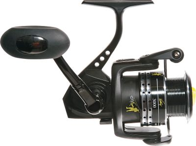 Fishing Champion bass fisherman Skeet Reese developed this reel to give you the kind of performance he wins tournaments with. Light, yet strong, it has a thick power bail with a long-life bail spring. Its 9+1 ball-bearing system delivers ultrasmooth operation. Strong aluminum body, aluminum spools and aluminum power handle for lightweight performance. Infinite anti-reverse and a smooth front drag put you in complete control. Anti-twist line roller. Soft-touch handle. Spare spool included. Saltwater-resistant. Comes with a protective storage bag. - $69.88