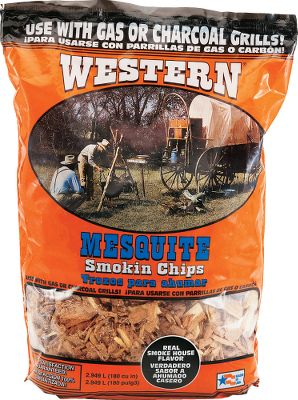 Camp and Hike Get smokehouse flavor from your grill or smoker with these premium-quality Smoking Chips. 100% natural and kiln dried to reduce moisture content, these wood chips impart that smoky flavor associated with custom smokehouse taste. Use a single wood type or combine with other flavors to create your own signature essence. Can be used in charcoal grills and open fires as well. Approximately coin sized. 180 cu. in. Available: Mesquite, Hickory, Apple, Cherry, Alder, Pecan(not shown), Peach, Orange, Maple(not shown). Recommended instructions: Build a pyramid of wood chips in the grill and ignite. Once the chips become red-hot coals, place food on the grill. Always use barbecue tools for safety. Check your grills instruction manual before using. Color: Charcoal. Type: Charcoal & Wood Smokers. - $5.99