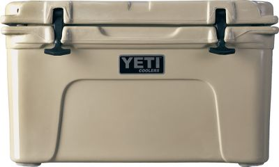 Camp and Hike Shop All Yeti Why replace cheap coolers year after year when one can last many seasons? With a super-strong roto-molded UV-resistant shell, this durable cooler has 2 of polyurethane foam insulation that teams with an integrated freezer-style gasket for superior ice retention. Nonslip, nonmarking feet keep it in place on deck. Positive-locking rubber T-latches. Food-grade/dry-ice compatible plastic. Leakproof drain plug. Exterior Dimensions: 21L x 16W 15-1/2H. Interior Dimensions: 14-5/8L x 10-1/2W x 11-1/4H. Weight: 17 lbs. Colors: Ice Blue, White, Tan. Color: Blue. Type: Coolers. - $299.99