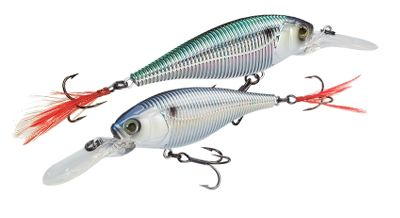 "Fishing Combine Yo-Zuri's patented color-changing technology, realistic 3-D eyes, raised gill plate, lateral line, and feathered, breathing tail hook, and you have one of the hottest lures to come along in years. The color-changing technology available in the Sashimi series represents one of the most innovative new technologies in years. It's the only lure that actually changes color. Yo-Zuri engineers studied baitfish from all over the world to develop the most realistic color schemes. Baitfish change color to try and blend into their environment. They also change color due to stress, making them stand out in the school these are the ones that game fish key in on as an easy meal. These Sashimi lures mimic this color-changing behavior of prey fish to commit predatory game fish to the strike. Lifelike shad imitation has ribbed body for added vibration. Per each.Size: 2-3/4"", 3/8 oz. Color: (006)Tennessee Shad, (007)Skeleton Perch, (008)Ghost Shad, (009)Shad, (010)Firetiger, (011)Chartreuse Purple, (012)Hot Pink. - $9.88"