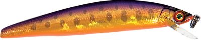 "Fishing Features the Magnetic Weight Transfer System which allows long casts from small lures. Floating model for stop-and-go retrieves. Per each.Sizes: 2-3/4"", 1/8 oz.3-1/2"", 1/4 oz. Colors: (001)Purple Brown Trout, (002)Rainbow Trout, (003)Hot Pink Trout, (004)Gold Flash, (005)Blue Shiner, (006)Purple Shiner. - $11.99"