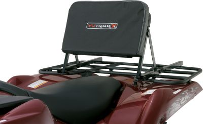 Motorsports Give your back a break after those long, rough trail rides with this comfortable ATV seat back. Sturdy square-tubular steel frame supports the soft, foam backrest. The thick 2 cushion is covered with durable, heavy-duty polyester that resists wear and tear from brush, branches and general use. Backrest folds flat for safe trail riding. Unit attaches quickly to your cargo rack with the included hardware. Fits metal or composite racks. - $39.99