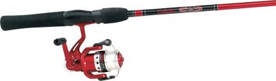 Fishing A value-loaded, entry-level spinning combo at a great price. The pre-spooled reel has a ball-bearing drive, a corrosion-resistant aluminum spool and a smooth front drag. The two-piece rod features a high-strength tubular-glass blank with stainless steel guides, a graphite reel seat and comfortable EVA grips. Images depict the style of the rod handle and may not fully represent the actual length. Color: Stainless. Type: Spinning Combos. - $20.88