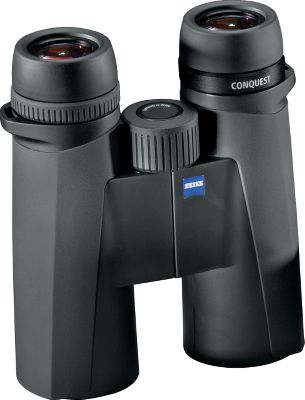 Hunting Representing a new standard in entry-level premium optics, these Zeiss Conquest HD 10x32 Binoculars are lightweight, compact, rugged and feature the advanced HD lens design. Image colors are neutral and ultraclear with extra-low chromatic dispersion, and the Zeiss T multicoating, dielectric mirror coating and LotuTec protective coating deliver a vivid image at any time of day, in all kinds of weather. An extra-wide field of view and close focus make in-the-field glassing quick and easy. Durable armoring on the water- and fogproof aluminum body for years of service. Includes eyepiece and lens covers, a neoprene strap and a Cordura nylon case. - $712.99
