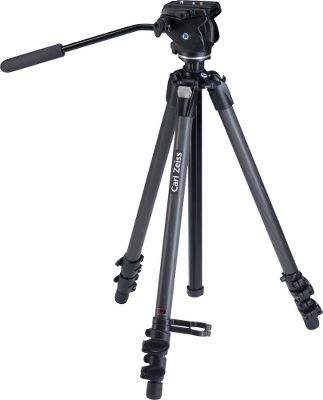 Hunting If you're looking for a lightweight, super-stable, high-quality tripod, you ve found it. Because of its durable carbon-fiber legs and magnesium mounting plate, the easily portable ZEISS Carbon Tripod weighs only 5.7 lbs. While using the left- or right-mountable swivel arm, the state-of-the-art photo/video head provides a perfectly fluid movement for quick and easy observation and photography. Offers a strong positive motion lock in any position. The quick-release plate can be moved lengthwise for optimal balance while using a spotting scope. Includes leg locks, spikes and carry strap. For peak performance, use with the ZEISS DiaScope Spotting Scope, Dialyt Field Spotter or PhotoScope. Works well with most Victory and Conquest binoculars with the ZEISS Binofix Tripod Adapter. - $699.99
