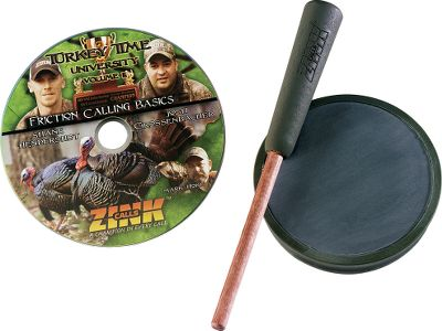 Hunting State-of-the-art injection-molded technology guarantees youll hear the same quality and consistency, not only in every call, but in every note. At 150 yds. or 15 ft., these innovative aluminum, crystal and slate calls provide a fantastic range of sounds that drives gobblers wild. Includes a two-piece hardwood striker, surface-specific conditioning pads, the popular E-Z Gripper Ring, built-in striker conditioning pocket and a copy of Turkey Time University Vol. II Friction Calling Basics DVD. Available: Slate. - $29.99