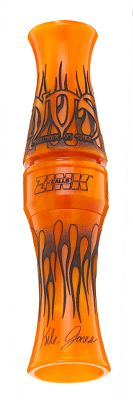 Hunting Zinks Nightmare On Stage Acrylic Goose Call is engineered for high speed, and maximum-volume goose talk. It has Zinks competition-quality worn-in tone-channel system, and features laser-engraved flame graphics on the streamlined barrel and insert. Complete with extra reeds, instructional DVD, leg band and hard case. Made in USA. Colors:Blueberry Swirl, Black Stealth, Black Swirl, Maple, Black Gold. Color: Black Gold. Type: Short Reed. - $159.99