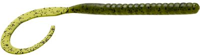 Fishing These worms are ideal for bigger bass on a Texas rig, especially pitching or flipping in cover. The Ol Monster Worm puts you in the hunt for a true monster bass. Per 9. Size: 10-1/2. Colors: (181)Watermelon Seed, (202)Junebug, (317)Sprayed Grass, (332)Green Pumpkin Candy, (542)Green Pumpkin, (996)Watermelon/Red. Color: Green. - $4.59