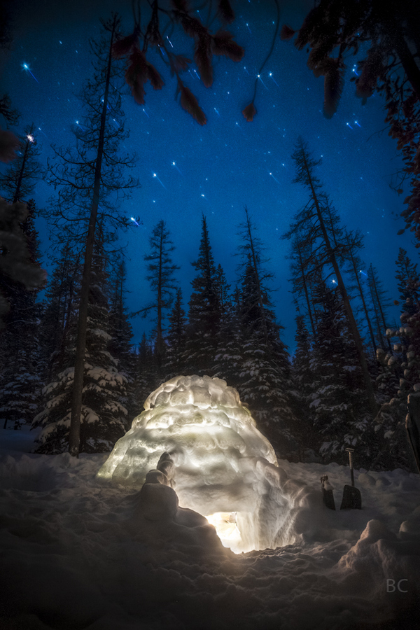 Camp and Hike Igloo in the Mountains