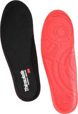 Add these insoles to your favorite footwear and enjoy the warm protection of Thinsulate Insulation. Thinsulate thermal insoles use performance foam to provide exceptional warmth and minimize shock with every step. Insoles have antimicrobial and moisture-management technologies to reduce odor-causing bacteria and keep feet dry. Imported. Sizes: XS-2XL. Color: Black. - $9.88