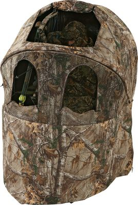 Hunting Ameristeps versatile Crossfire Chair Blind is roomy enough to easily crossbow, rifle or shotgun hunt, plus its the first chair blind from which you can bowhunt. Large, front-zippered window for unobstructed shooting and maximum visibility. The adjustable roof flap allows you to stand and stretch your legs during long sits and is great for waterfowl and dove hunting. 100% polyester. Includes carry case. Imported.Camo pattern: Realtree XTRA.Blind dimensions: 62H x 60W x 40D.Seat dimensions:35H x 20W x 17D. Type: Chair Blinds. Ground Blind Type: Chair Blinds. - $67.88