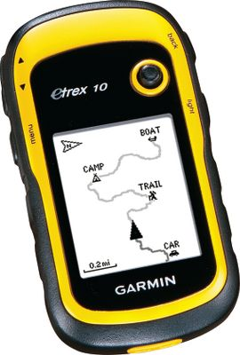 Camp and Hike Garmins entry-level eTrex upgrades the level of performance over previous models while maintaining an affordable price. Details like enhanced geocaching features make this unit popular for more than just finding your location. The 2.2 monochrome LCD has 128x160-pixel resolution. High-sensitivity, WAAS-enabled GPS receiver with HotFix acquires satellite locations quickly for fast start-up times. Unit comes pre-loaded with worldwide basemap. Connect to your computer using the USB interface. Compatible with Garmin spine-mounted accessories. Powered by two AA batteries (not included) for up to 20 hours. Dimensions: 3.9H x 2.1W x 1.3D. Weight: 5 oz. - $109.99