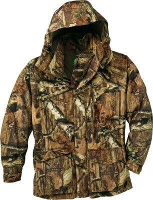 Hunting Revolution Fleece outerwear is every bit as soft, quiet and warm as the traditional fleece youve depended on for years. But it has virtually no nap, so burs and other vegetation wont cling to it. Plus, it wont pill and deteriorate even after repeated washings and wear. A 100% waterproof Dry-Plus membrane ensures you stay dry. Insulated with 150-gram Thinsulate Insulation throughout. The Full-Zip Jacket features two front zippered pockets and a shock-cord waist. Adjustable hood. Hook-and-loop adjustable cuffs. Soft polyester tricot lining. Imported. Sizes: M-3XL. Camo patterns: Mossy Oak Break-Up, Mossy Oak Treestand, Realtree AP, Seclusion 3D, Outfitter Camo, Seclusion 3D Open Country, Mossy Oak Brush. Type: Jackets. Size: 3 X-Large. Camo Pattern: Outfitter Camo. Size 3xl. Color Outfitter Camo. - $99.88