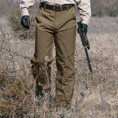 "Hunting Simply put, these are the toughest pants Cabela's has ever offered. BriarGuard lining uses layers of nylon for extreme protection, yet the pants remain lightweight, soft and comfortable. Go ahead, track them through briars and thorns. With BriarGuard you're protected. Imported. Even waist sizes: 32-42.Inseam: 32"".Color: Tan/Dark Tan. - $82.88"