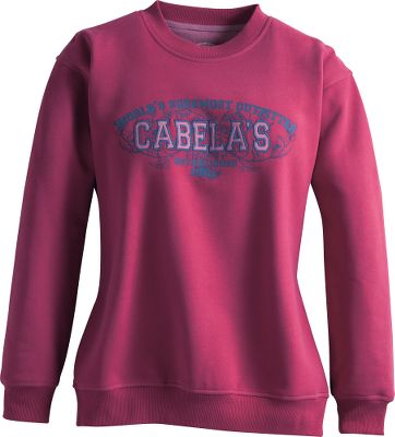 Screen-printed graphics and logo appliqus combine with 60/40 cotton/polyester fleece construction for rugged, college-inspired looks and warm, next-to-skin comfort. Rib-knit collar, cuffs and hem deliver long-wearing durability. Machine washable. Imported.Sizes: S-2XL.Color: Rhubarb. - $19.88