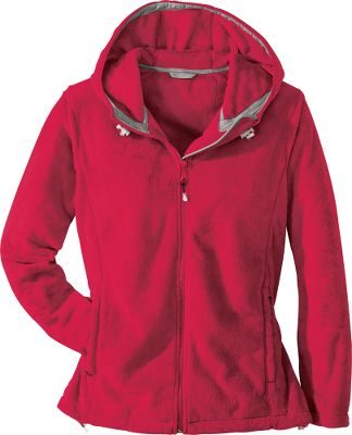 The softest jacket you'll own. Double-sided, plush fleece keeps you cozy warm. Princess seams on sides for a tailored look. Attached hood with adjustable drawcord. Full-zip front. 100% polyester knit. Machine washable. Imported.Sizes: S-2XL.Colors: Orchid, Celadon, Brick Red, Black. - $29.99