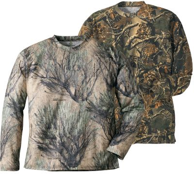 Hunting 100% polyester is the perfect choice for warm-weather wear. This two-pack has one Cabelas Seclusion 3D and one Cabelas Seclusion 3D Open Country tee shirt. Moisture-wicking, quick-drying and antimicrobial. Imported. Sizes: M-2XL. Size: M. Color: Seclusion 3-D. Gender: Male. Age Group: Adult. Material: Polyester. - $25.88