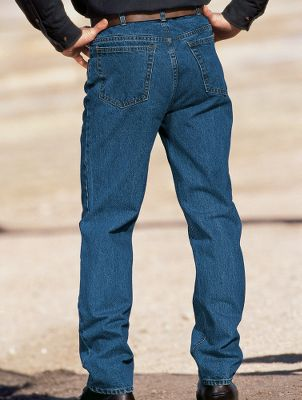 We know youll love our Roughneck Traditional Fit jeans. Theyre crafted with tough, yet soft 15-oz. per sq. yd stonewashed cotton denim to deliver comfort and longlasting durability. They offer a classic, trimmer, less bulky fit. Pure indigo dye for lasting color. Traditional five-pocket design. Durable YKK zipper. Swivel shank button for extra durability and comfort. Imported. Inseams: Short 30 Regular 32 Long 34 X-Long 36 (30, 32, 33, 34-46) Waist sizes: 30, 32, 33, 34-52 (even sizes). Colors: Stonewash, Indigo/Darkstone. Waist: 32. Type: Jeans. Inseam: 32. Waist 32. Inseam 32. Color Indigo/Darkstone. - $24.99