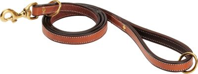 Hunting Keep your pup secure with our buffalo-leather leads. High-quality buffalo hide is known for being incredibly strong, while remaining soft to the touch. The 4-1/2-long leads keep your dog close while giving him room to sniff around. Solid-brass hardware. Made in USA. Length: 4.5. Colors: Tan/Chocolate, Chocolate/Cream. Color: Chocolate/Cream. Type: Leashes & Leads. - $49.99