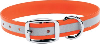 Entertainment Increase your dogs visibility and safety at night and in low-light conditions with our reflective dog collars. Durable, two-ply nylon webbing holds up to abuse and lets you easily keep track of your dog. Convenient design can be cut to fit your dogs neck, providing a comfortable and custom collar. Fits dogs with necks from 13 to 27. 1 width. Made in USA. Colors: Orange, Blue, Pink, Green, Yellow. Color: Green. - $14.99