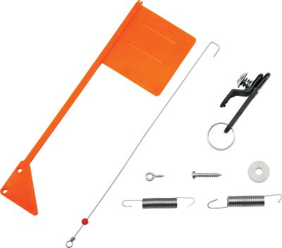 Fishing Converts any planer board into a tattle flag system. Includes heavy-tension spring, light-tension spring, tattle flag, release clip, tension rod and washer. - $14.99